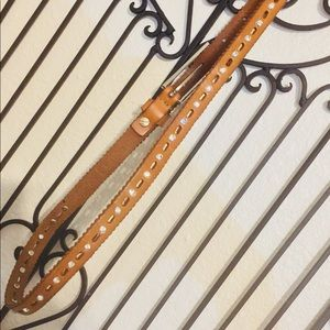 CARAMEL BROWN RHINESTONE BELT